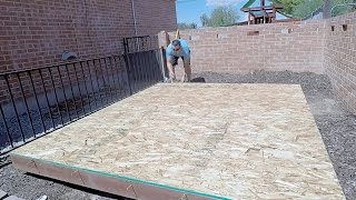 how to build a shed playhouse part 1 building the floor base