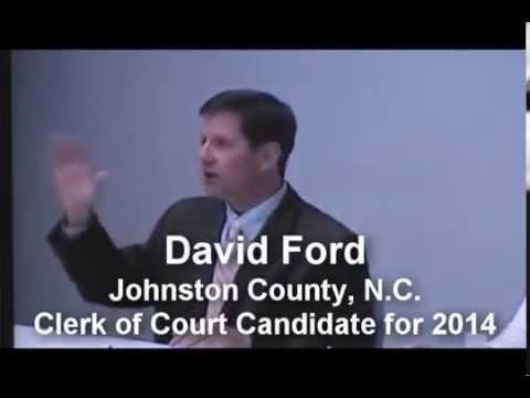 ElectDavidFord.com - Johnston County Clerk of Court Candidate