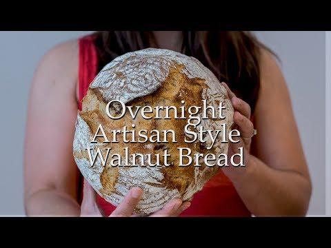 Overnight Artisan Walnut Bread