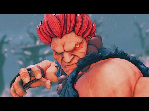 Street Fighter V - Akuma Intro, Critical Art, Victory Pose, All Costumes, All Story Mode Cutscenes