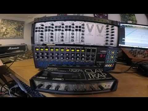 Elby Designs MIDI Retrofit 16 Test Run - Controlling Simmons SDSV, SDS7 and Digital Clap Trap