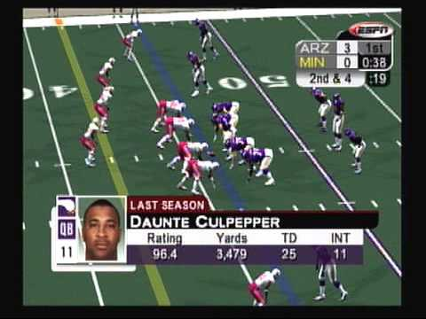 TPGR : NFL 2K5 Vikings vs. Cardinals part 1 (XBOX)