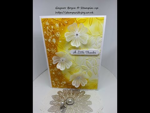 flower shop thank you card stampin up