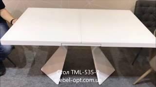 видео Белый обеденный стол раздвижной: глянцевый или матовый?