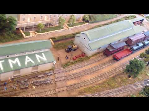 Mineral Point Wisconsin R.R. Museum display layout 9/3/'17