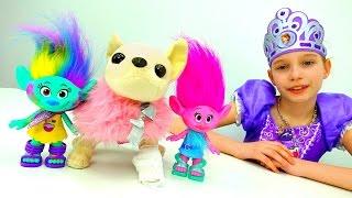 София Прекрасная и #Тролли из мультика. Игры #Принцессы. Лечим собачку #ЧиЧиЛав ! Видео для девочек