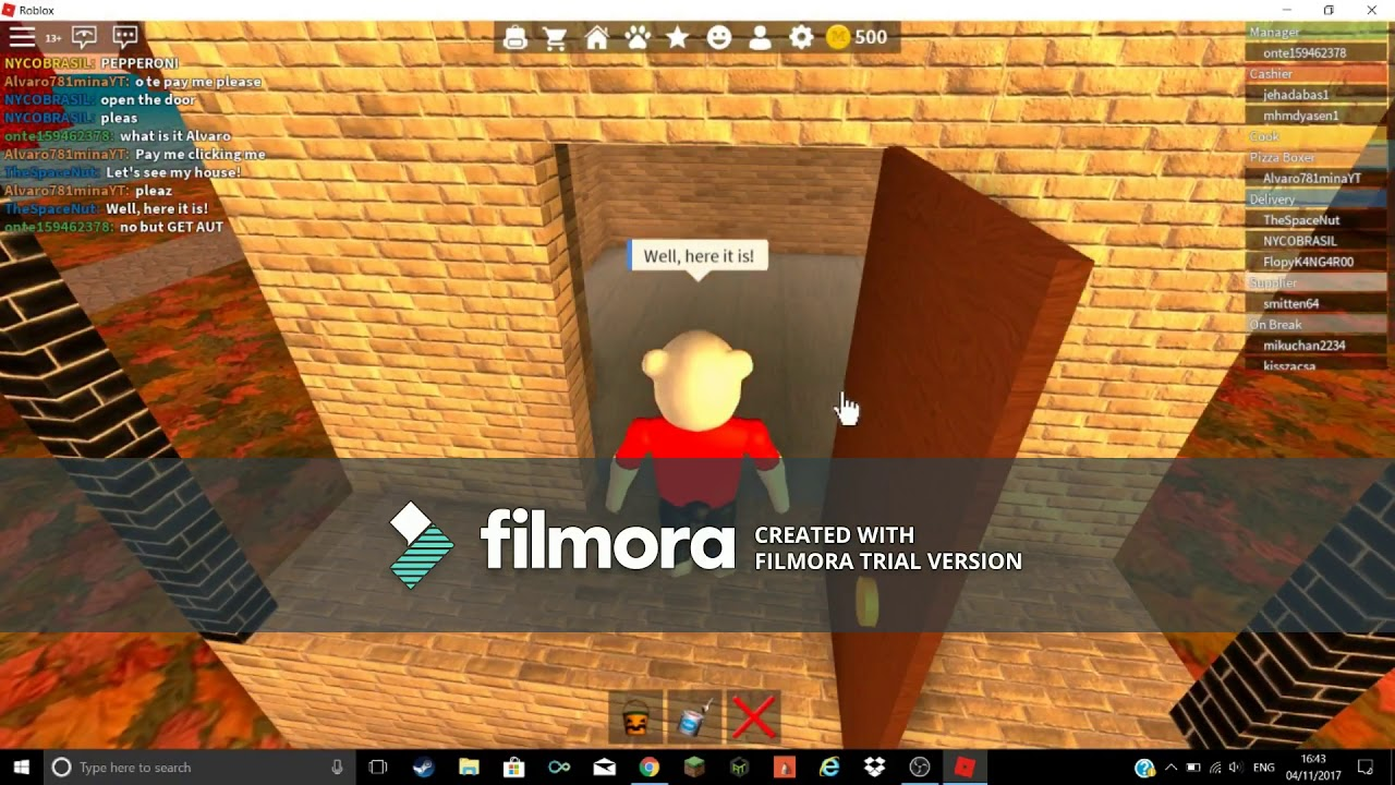 Work At A Pizza Place Roblox Ep 1 Youtube