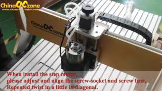 How to Install the Stepper Motor for ChinaCNCzone 6090 CNC Router?