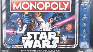 Monopoly Star Wars 40th Anniversary Special Edition from Hasbro