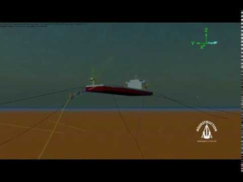 Orcaflex Simulation - Anchor Parted Pipelay Barge
