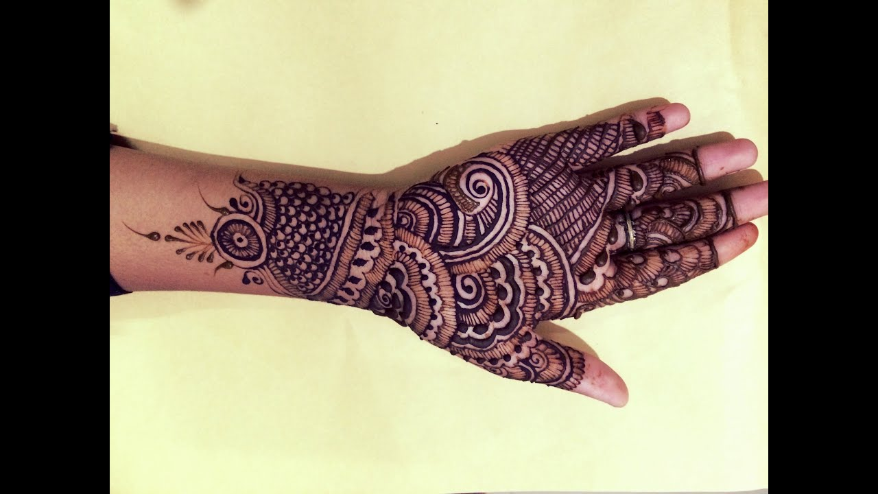 Simple Easy Indian Full Hand Mehndi Design2016
