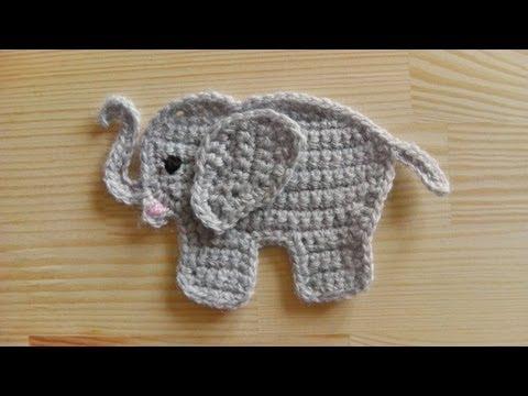 How to crochet an elephant application applique