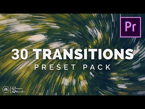 30 FREE Smooth Transitions Preset Pack for Adobe Premiere Pro | Sam Kolder Style