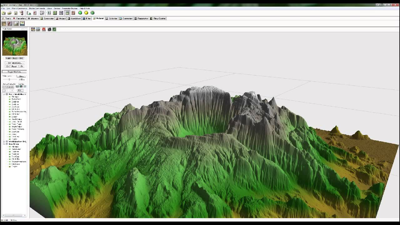 1 of 3 Create a volcanic scene in Vue and World Machine