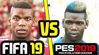 FIFA 19 VS PES 2019 NEW PLAYER FACES