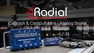 How to connect analog audio through cat 5 ethernet with the Radial Catapult