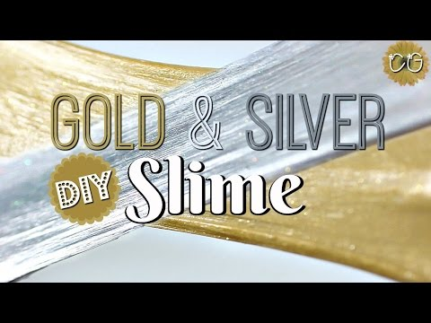 METALLIC FLUFFY SLIME!  DIY GOLD & SILVER SLIME