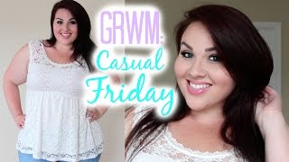 GRWM: Makeup + Outfit | Casual Friday