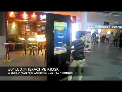"""50"""" LCD Interactive Kiosk - Manila's Ocean Park Aquarium, Manila Philippines"""