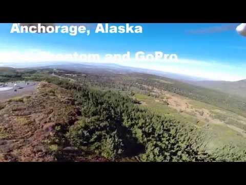 Drone footage of Anchorage, Alaska