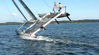 extreme catamaran sailing stars stripes just another day