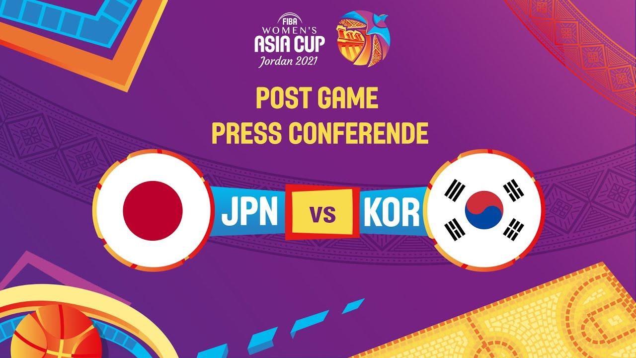 Japan v Korea - Press Conference   FIBA Women's Asia Cup 2021 - Division A