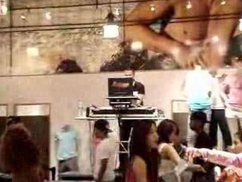 DJ Jonathan Lopez  at Armani Exchange SOHO NYC