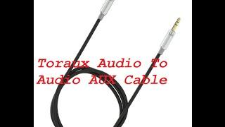 CABLE AUXILIAR DE AUDIO (Toraux Audio To Audio AUX Cable)