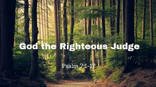 God the Righteous Judge