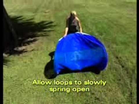 & How to fold large Playhut EZ Twist structures - YouTube
