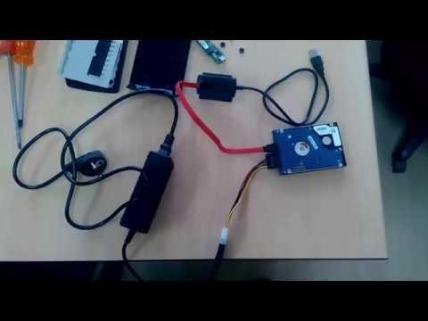 Bozuk harddiskten veri kurtarma, sata,ide to usb kablo kullanımı