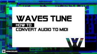 Waves Tune: How To Convert Audio to MIDI