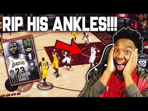 HE DESTROYED HIS ANKLES!!! 93 OVR CHRISTMAS DAY LEBRON JAMES GAMEPLAY!!! NBA LIVE MOBILE 19