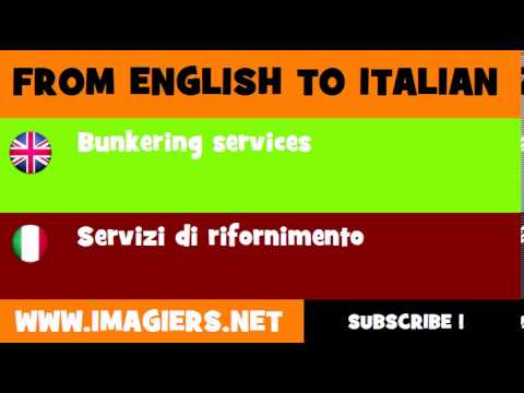 How to say Bunkering services in Italian