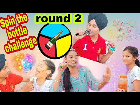 #vlog8 | Spin The Bottle Challenge | with sisters | Round 2 #rajveersuniara