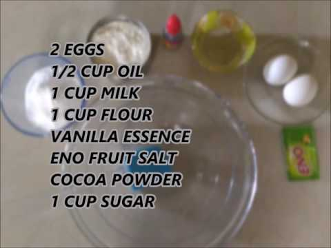Easy Chocolate Sponge Cake Recipe   Fresh Cream   Eno Fruit Salt  Egg   Pressure Cooker