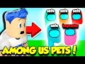 I Hatched ALL AMONG US IMPOSTOR PETS In Clicking Champions!! *RARE* (Roblox)