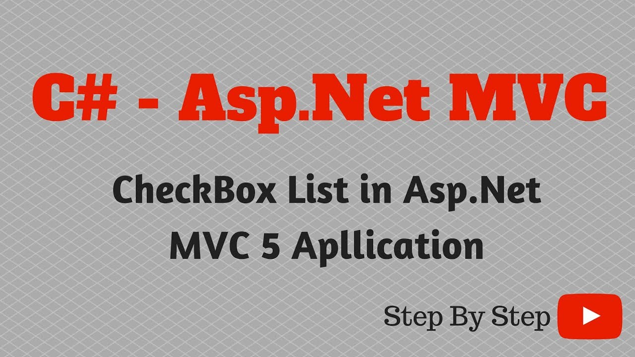 C# Net CheckBox List in Asp Net MVC 5 Apllication