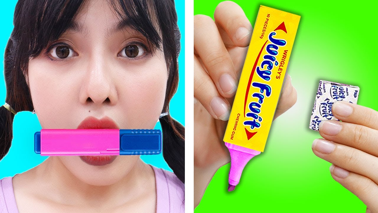 6 WEIRD WAYS TO SNEAK SNACKS FOOD INTO CLASS | CRAZY TIPS AND TRICKS BY CRAFTY TOUCH