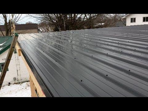 EBP Metal Roofing - Garage Flat Roof