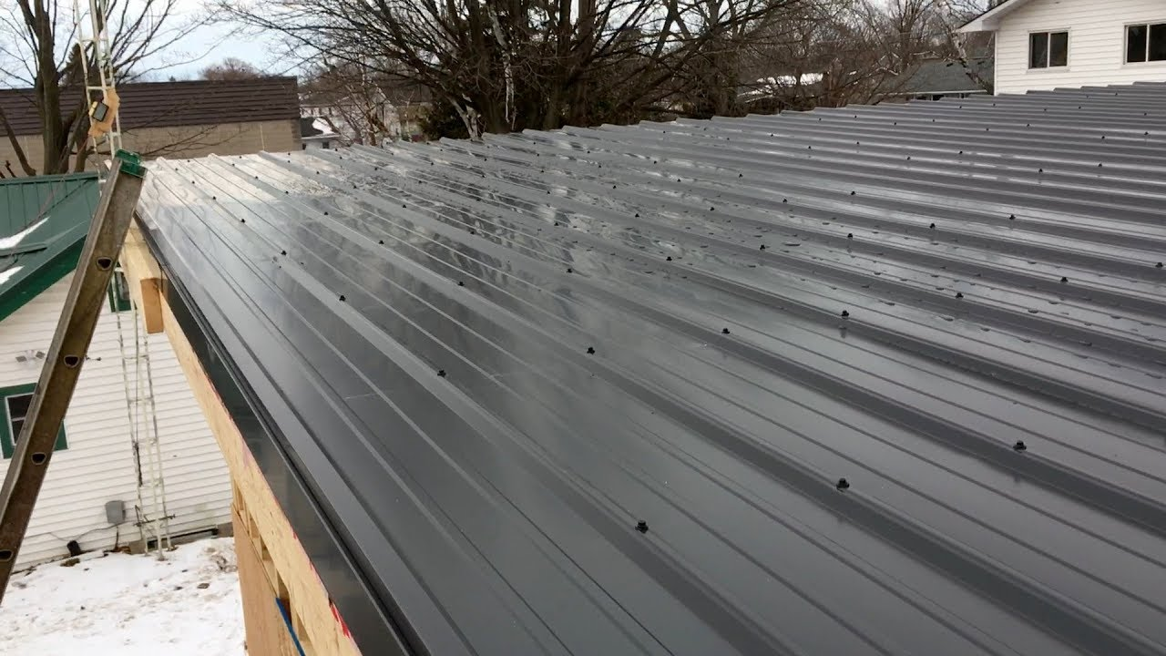 Ebp Metal Roofing Garage Flat Roof Youtube