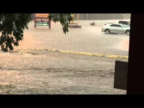 Lawton flooded road