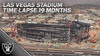 Las Vegas Stadium Construction Time Lapse [19 months of work] | Raiders