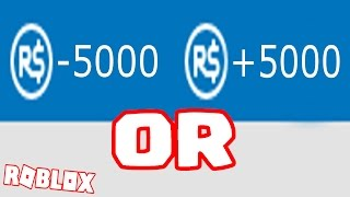 BETTING 5000 ROBUX IN ROBLOX