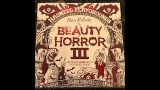 Beauty of Horror 3 Coloring Book Flip Through!