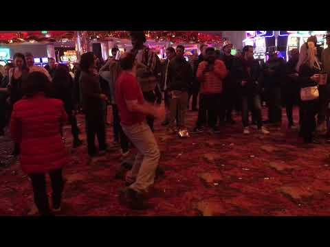 Freaky Dude Gettin' Down at Mystic Lake Casino on New Year's Eve