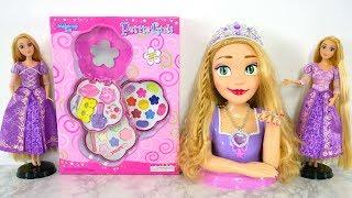 Princess Rapunzel Deluxe Styling Head Barbie Make-up Set Putri Barbie Kosmetik Cosméticos Brinquedo