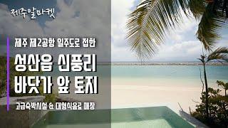 제주 제2공항 성산읍 신풍리 바닷가 앞 토지 _ 제주알…