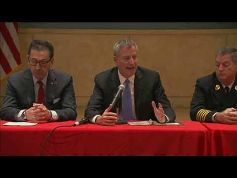 Mayor de Blasio Delivers Remarks at WTC Health Program Steering Committee Meeting