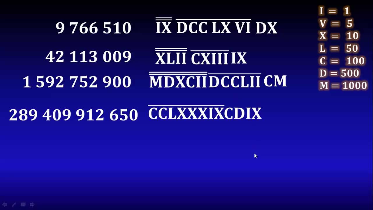 14 Números Romanos Millones Billones Trillones Etc Youtube